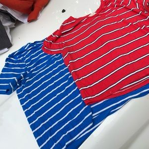 Two striped tops